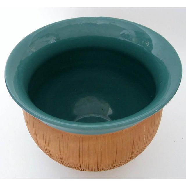 Scored Terracotta & Teal Planter - Image 4 of 5
