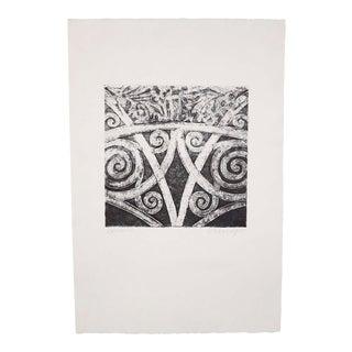 """Spirals Iii"", Original Etching by Anita Klebanoff For Sale"