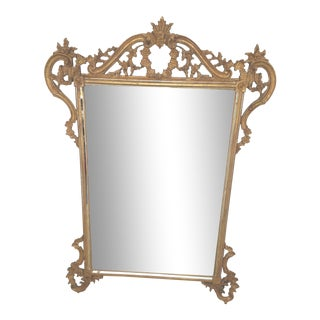 1970s Continental Style Gilt Wood Mirror by LaBarge For Sale