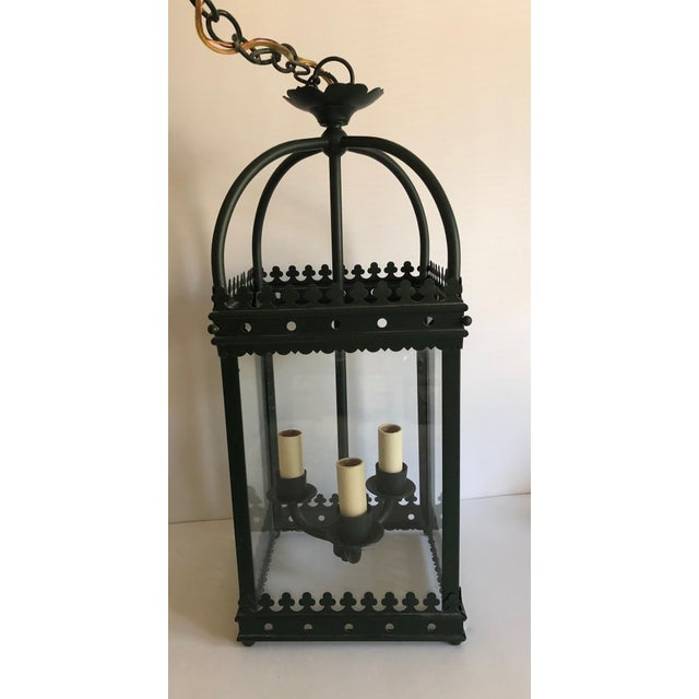Traditional 1990s Vaughan Green Indoor Hanging Lantern For Sale - Image 3 of 9