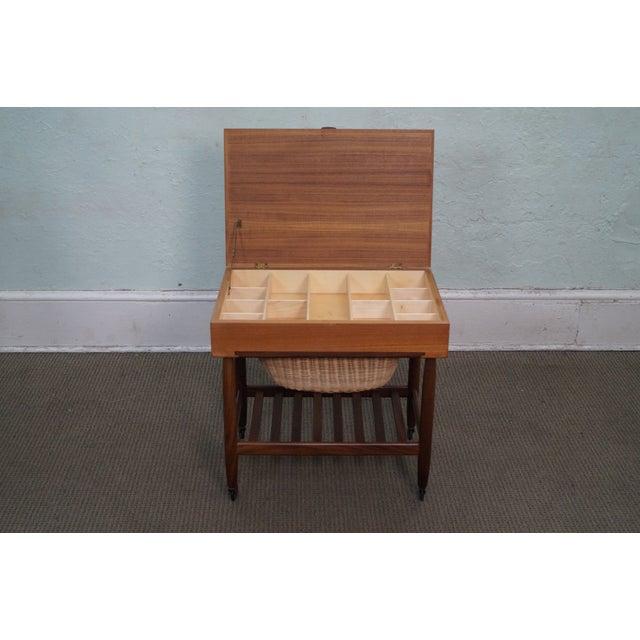 Vitre Vintage Danish Modern Teak Sewing Cart - Image 5 of 10