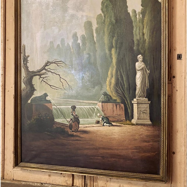 Grand Framed Oil Painting on Canvas by E. Carliez After H. Robert For Sale In Dallas - Image 6 of 12