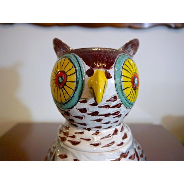 1960s Mid Century Italian Owl Cookie Jar For Sale - Image 5 of 7