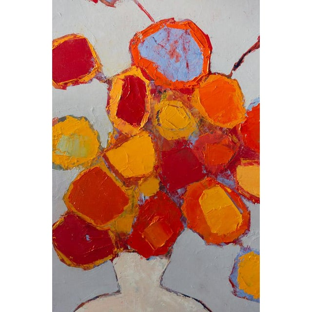 """Bill Tansey """"White Vase"""" Abstract Floral Oil Painting on Canvas For Sale In New York - Image 6 of 7"""