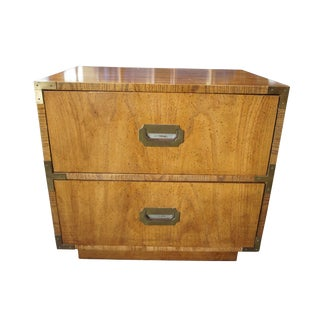 1970s Campaigner Dixie 2 Drawer Nightstand For Sale