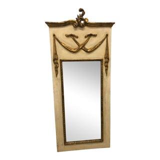 Italian Creme & Gold Trumeau Mirror