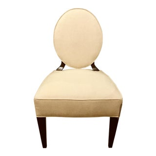 Barbara Barry for Henredon Oval Side Chair For Sale