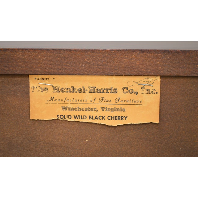Henkel Harris Vintage Solid Cherry Chippendale Style High Chest on Chest For Sale In Philadelphia - Image 6 of 13