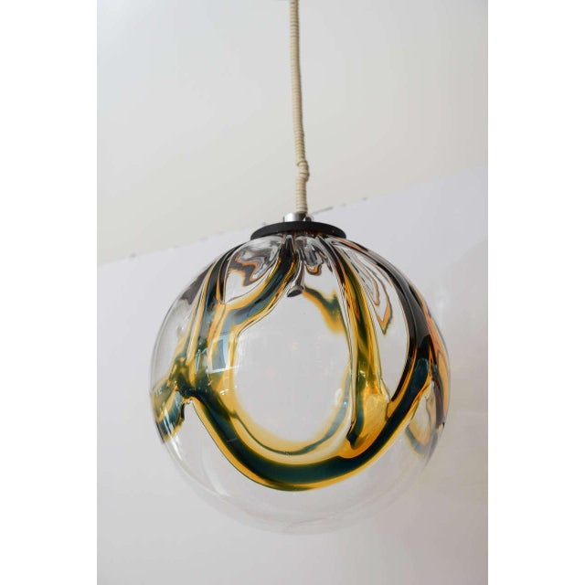 Gigantic Mazzega Murano Globe Hanging Light - Image 3 of 6