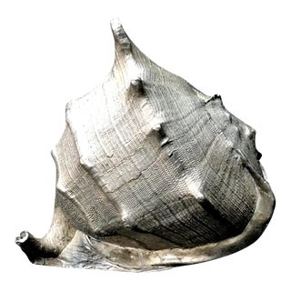 1980s Vintage Maitland-Smith Silver-Plated Bronze Seashell Model For Sale