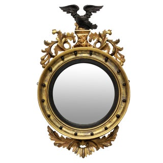 An English Regency Convex Mirror For Sale