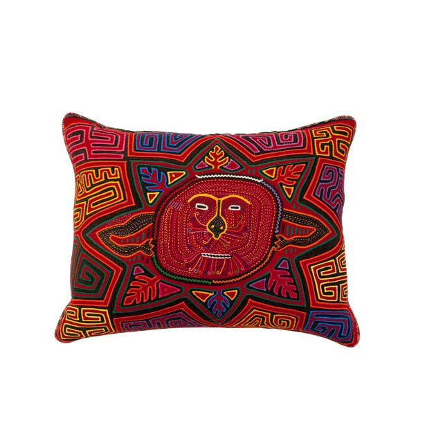 Central American Smiling Sun Pillow - Image 1 of 2