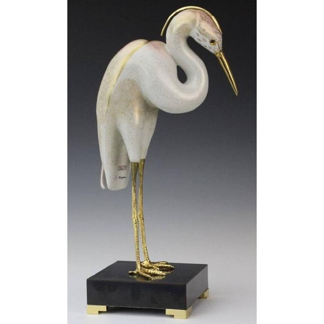 Oggetti 1980s Realism Stork Sculpture by Mangani for the Oggetti Company For Sale - Image 4 of 8