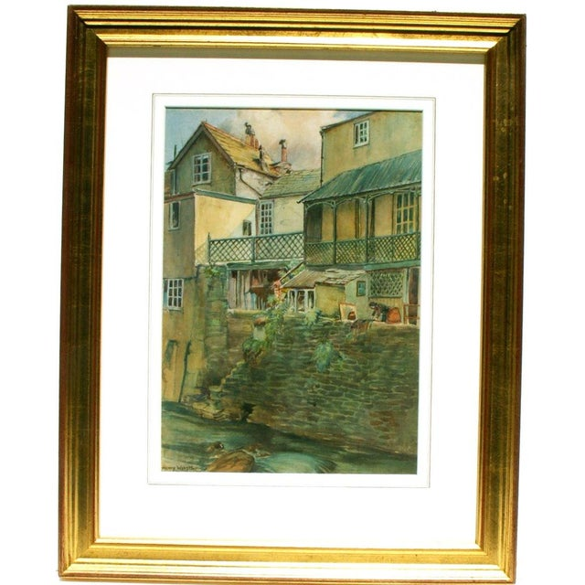 Henry Webster Old Lynmouth Devon Painting - Image 1 of 3