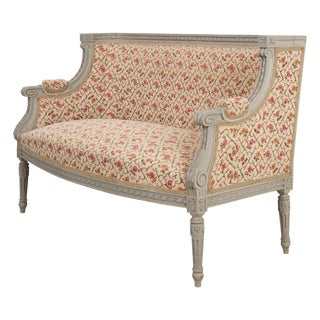 French 19th Century Louis XVI-Style Painted Canapé For Sale