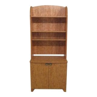 1990s Rustic Lane 2 Piece Maple Open Hutch Cabinet For Sale