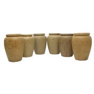 Antique English Unglazed Pottery Jars C.1880, S/6 For Sale