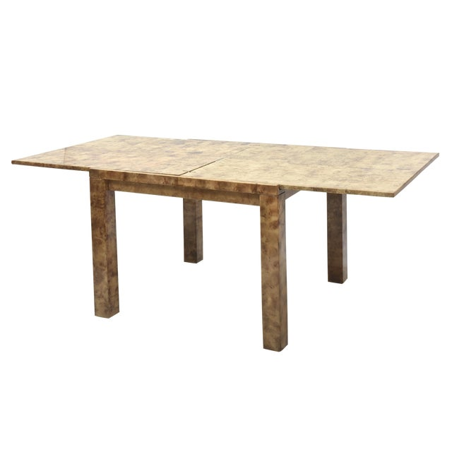 "Fine American Modern ""Goatskin"" Game Table/Extension Dining Table, Karl Springer For Sale"