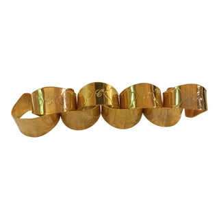 Mid-Century Gold Plated Napkin Rings - Set of 8 For Sale