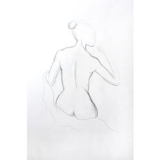 Figure Drawing - Female Back 2 For Sale