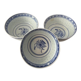 1970s Vintage Rice Ware Bowls - Set of 3 For Sale