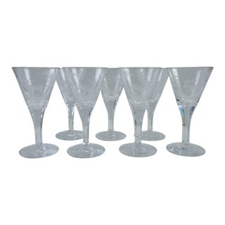 Etched Wildlife Vintage Wine Glasses - Set of 7 For Sale
