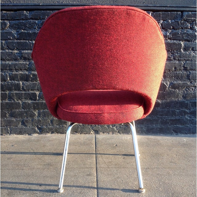 Eero Sarrinen Red Executive Chair - Image 3 of 5