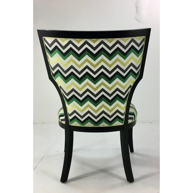 2010s Currey and Co. Green Herringbone Garbo Side/Desk Chair For Sale - Image 5 of 6