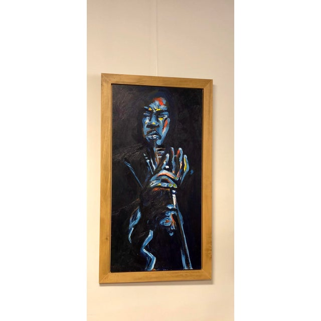 "Original ""Jazz Trumpeter"" Framed Oil Painting by Lani Mustad Stringer For Sale - Image 12 of 12"