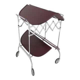 Mid-Century Modern Cartel Folding Serving Cart For Sale
