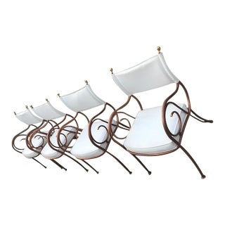 Mid-Century Shaver-Howard White Vinyl Upholstered Chairs - Set of 4 For Sale