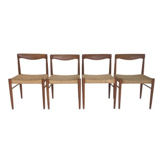 1960s Vintage Danish Chairs by Danish Control- Set of 4 For Sale