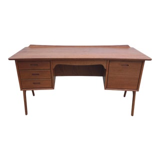 1950s Danish Modern Sven Madsen for Moreddi Teak Desk For Sale