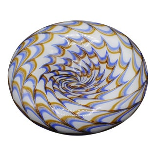 1957 Ercole Barovier Inverted Swirl Murano Bowl For Sale