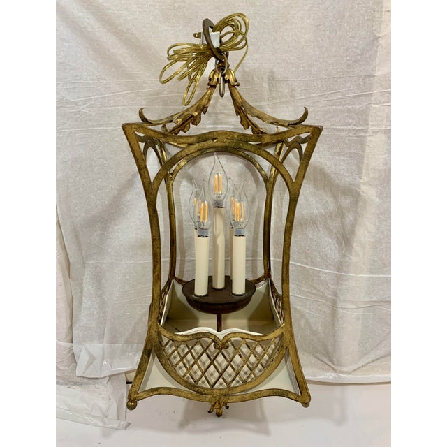 1920s French Style Basket Lantern For Sale - Image 6 of 8
