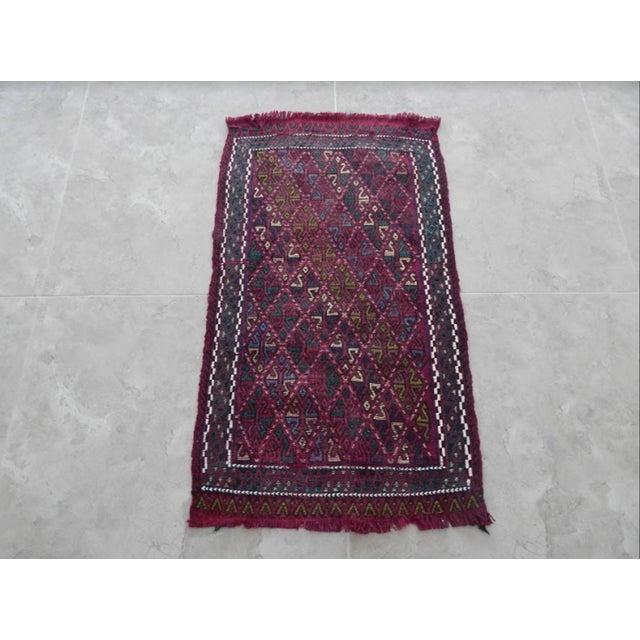 Traditional Handwoven Turkish Kilim Rug Pastel Colors Area Rug Petite Braided Kilim For Sale - Image 3 of 8