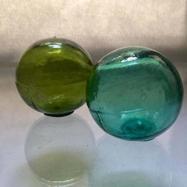 Vintage Hand-Blown Glass Fishing Floats - A Pair - Image 4 of 4