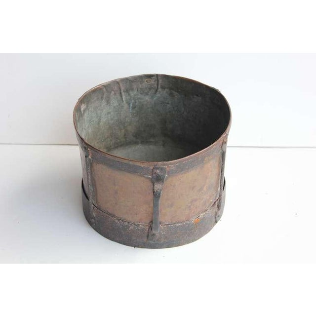 English Traditional Mid 19th C. Antique English Copper & Iron Pot For Sale - Image 3 of 3
