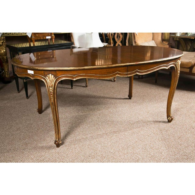 French Louis XV Style Oval Dining Table by Jansen - Image 3 of 8
