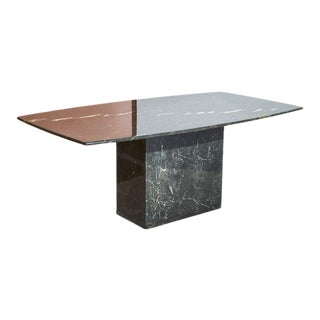 1970s Black Marble Dining Table For Sale