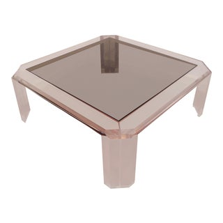 Les Prismatiques Lucite Cocktail Table For Sale