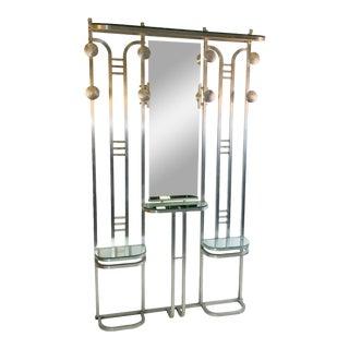 1930s Modernist Art Deco Aluminum Hall Rack For Sale