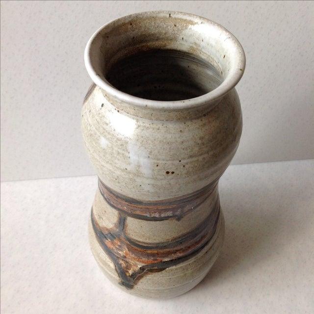 Studio Pottery Neutral Tone Glazed Vase - Image 8 of 11