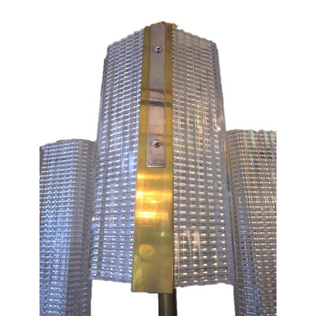 Kalmar Modernist Brass and Glass Ten-Arm Austrian Chandelier For Sale - Image 9 of 12