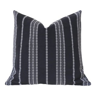 Black Boho Stripe Pillow Cover 22x22 For Sale