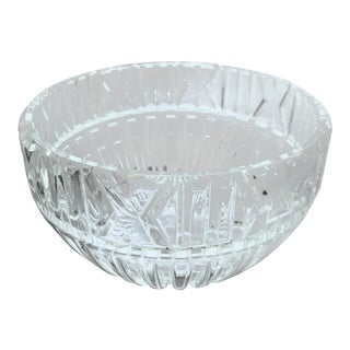 Tiffany & Co. Crystal Atlas Roman Numeral Decorative Bowl. For Sale