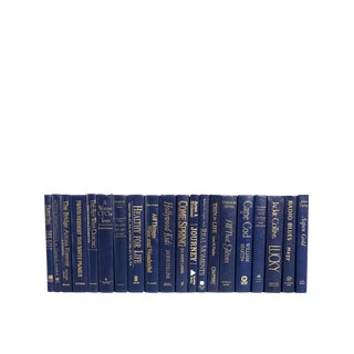 Modern Cobalt and Gold Book Set, S/20 For Sale