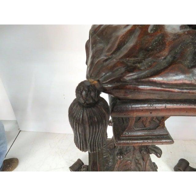 Antique Italian Carved Puttis on Pedestals - Pair - Image 9 of 9