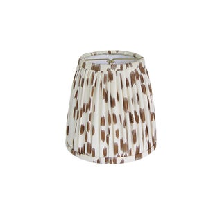 Brown Animal Print Pleated Sconce or Chandelier Shade For Sale