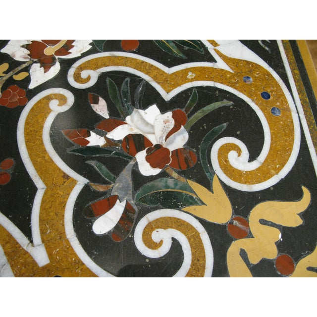 Italian Pietra Dura Inlaid Stone Table For Sale In New York - Image 6 of 9